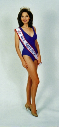 Susan in the swimsuit she wore during the competition 1997