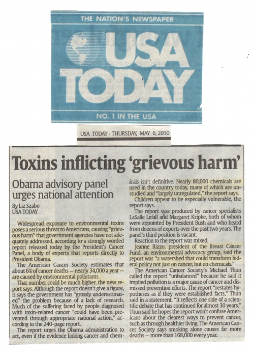 USA Today Newspaper - Front Page